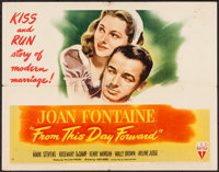 """From This Day Forward (RKO, 1946). Half Sheet (22"""" X 28"""") Style A. Romance"""
