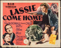 "Movie Posters:Adventure, Lassie Come Home (MGM, 1943/R-1971). Half Sheet (22"" X 28"") StyleB, & One Sheet (27"" X 41"") Children's Matinee Style. Adven...(Total: 2 Items)"