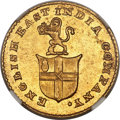 India:British India, India: British India. Madras Presidency gold 5 Rupees ND (1820) MS63 NGC,...