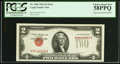 Error Notes:Inverted Third Printings, Fr. 1509 $2 1953 Legal Tender Note. PCGS Choice About New 58PPQ.....