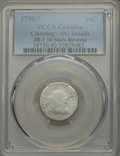 Early Dimes, 1798/97 10C 16 Stars Reverse, JR-1, R.3, -- Cleaning -- PCGSGenuine. AG Details. ...