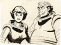 "animation art:Production Cel, Alex Toth - ""Space Angel"" TV Show Illustration Original Art (circa1962)...."