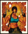 Original Comic Art:Covers, Joe Jusko - Pittsburgh Comic Con Program Cover, Featuring LaraCroft, Tomb Raider Original Art (2000).. ...