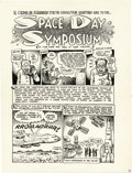"Original Comic Art:Panel Pages, Robert Crumb - CoEvolution Quarterly #15 ""Space Day Symposium""Panel Page Original Art (Whole Earth Catalog, 1977)...."