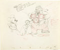 "animation art:Production Cel, Walt Disney Studios - ""Society Dog Show"" Animation ProductionDrawing Original Art (Disney, 1939). ..."