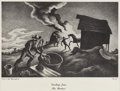 Paintings, THOMAS HART BENTON (American 1889 - 1975). Fire In The Barnyard. Lithograph reproduction. 8.5 x 13.25in. (Image size). T... (Total: 1 Item Item)
