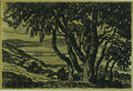 American:Impressionism, BIRGER SANDZEN (American 1871- 1954). Trees and Hills. Lithograph on paper. 12 x 18in. (image size). Plate signature low...