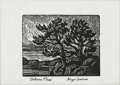 Prints:American, BIRGER SANDZEN (American 1871- 1954). Veteran Pines. Print.2.75 x 3.5in. (image size). Plate inscription lower margin: ...