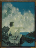 Prints:American, MAXFIELD PARRISH (American 1870 - 1966). Air Castles, 1904.Period print on paper. 16 x 11.75in. (image size). Provenanc...