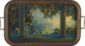 Prints:American, MAXFIELD PARRISH (American 1870 - 1966). A Serving Tray, featuringDaybreak, 1923. Period print on paper (The House of A...
