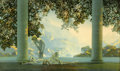 Prints:American, MAXFIELD PARRISH (American, 1870-1966) . Daybreak, 1923 .Vintage print on paper (House of Art) . 17.5 x 29.5in. (image ...