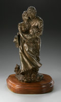 Bronze:American, EDWARD J. FRAUGHTON (American 1939 - ). Embracing Family,1974. Bronze. Numbered 20/50. Signed, dated and numbered to...