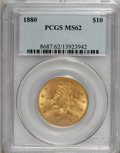 Liberty Eagles: , 1880 $10 MS62 PCGS. PCGS Population (230/62). NGC Census: (274/34).Mintage: 1,644,876. Numismedia Wsl. Price for NGC/PCGS ...