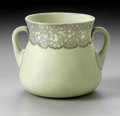 Art Glass:Other , AN AMERICAN ART GLASS SUGAR BOWL...