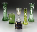 Art Glass:Other , A GROUP OF ENAMELED GLASS ITEMS... (6 Items)