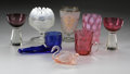 Art Glass:Other , A MIXED LOT OF GLASS ITEMS... (8 Items)