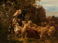 Fine Art - Painting, European:Antique  (Pre 1900), Continental School (20th Century). The Young Shepherd. Oilon panel. 12 x 16 inches (30.5 x 40.6 cm). PROPERTY FROM TH...