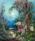 Fine Art - Painting, American:Contemporary   (1950 to present)  , Colette Pope Heldner (American, 20th Century). Swamp Idyll.Oil on canvas. 36 x 30 inches (91.4 x 76.2 cm). Signed lower...