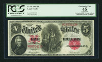 Fr. 88 $5 1907 Legal Tender PCGS Apparent Extremely Fine 45