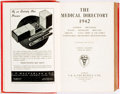 Books:Medicine, [Annual Periodical, Medicine]. The Medical Directory 1942.London: J. & A. Churchill Ltd., 1942....
