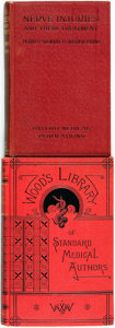 Books:Medicine, Dr. Wilhelm Erb. Handbook of Electro-Therapeutics. New York:William Wood & Company, 1883. [and:] Purves Stewa... (Total: 2Items)