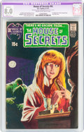 Bronze Age (1970-1979):Horror, House of Secrets #92 (DC, 1971) CGC Apparent VF 8.0 Slight (C-1)Cream to off-white pages....