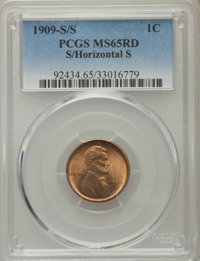 1909-S/S 1C S Over Horizontal S MS65 Red PCGS. PCGS Population: (228/88). NGC Census: (0/0). CDN: $1,000 Whsle. Bid for...