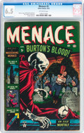 Golden Age (1938-1955):Horror, Menace #2 (Atlas, 1953) CGC FN+ 6.5 Off-white pages....