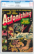 Golden Age (1938-1955):Horror, Astonishing #8 (Atlas, 1952) CGC VF- 7.5 Off-white pages....