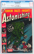 Golden Age (1938-1955):Horror, Astonishing #29 (Atlas, 1954) CGC VF 8.0 Off-white to whitepages....
