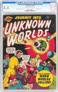 Golden Age (1938-1955):Science Fiction, Journey Into Unknown Worlds #37 (#2) (Atlas, 1950) CGC VF 8.0 Creamto off-white pages....