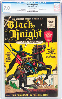 Black Knight #1 (Atlas, 1955) CGC FN/VF 7.0 Off-white pages