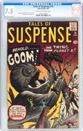 Silver Age (1956-1969):Horror, Tales of Suspense #15 (Marvel, 1961) CGC VF- 7.5 Off-white to whitepages....
