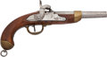 Handguns:Muzzle loading, Belgian Martial Marked 1839 Percussion Pistol....