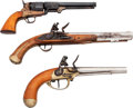 Handguns:Muzzle loading, Lot of 3 Reproduction Black Powder Handguns.... (Total: 3 )