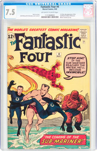 Fantastic Four #4 (Marvel, 1962) CGC VF- 7.5 Off-white to white pages