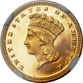 Proof Gold Dollars, 1862 G$1 PR67 Ultra Cameo NGC....