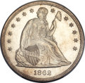 Seated Dollars, 1862 $1 MS65 PCGS Secure. CAC....