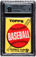 Baseball Cards:Unopened Packs/Display Boxes, 1963 Topps Baseball 2nd/3rd Series 5-cent Wax Pack GAI Mint 9. ...
