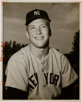 Baseball Collectibles:Photos, Early 1950's Mickey Mantle Original Photograph Used for 1954 BowmanCard, PSA/DNA Type 1....