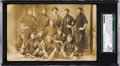 "Baseball Cards:Singles (Pre-1930), 1907 Victor Mills Baseball Team with ""Shoeless Joe"" Jackson RealPhoto Postcard, SGC 30 Good 2...."