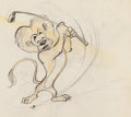Animation Art:Production Drawing, Leo the MGM Lion Animation Drawing (MGM, 1940s/50s)....