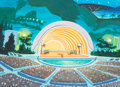 Animation Art:Painted cel background, The Harlem Globe Trotters Hand-Painted Production Background(Hanna-Barbera, 1970)....