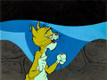 Animation Art:Production Cel, A Very Merry Cricket Harry Cat and Tucker Mouse ProductionCel and Key Master Background (Chuck Jones/Warner Brothers,...
