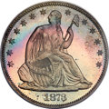 Proof Seated Half Dollars, 1873 50C No Arrows PR67 PCGS Secure. CAC. WB-101....