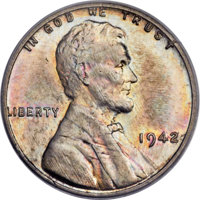 1942 1C One Cent, White Metal, Judd-2081, Pollock-2077, High R.7, MS65 PCGS. CAC....(PCGS# 62400)