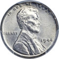 Lincoln Cents, 1944 1C Struck on a Zinc-Coated Steel Planchet MS63 PCGS. CAC....
