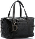 "Luxury Accessories:Accessories, Christian Dior Black Quilted Cannage Vinyl Tote Bag with GunmetalHardware. Very Good Condition. 12.5"" Width x 7.5""He..."