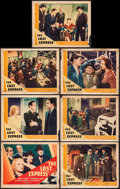 """Movie Posters:Crime, The Last Express & Other Lot (Universal, 1938). Title Card andLobby Cards (6) & Lobby Card Set of 8 (11"""" X 14""""). Crime.. ...(Total: 15 Items)"""