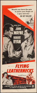 "Movie Posters:War, Flying Leathernecks (RKO, R-1956). Insert (14"" X 36""). War.. ..."